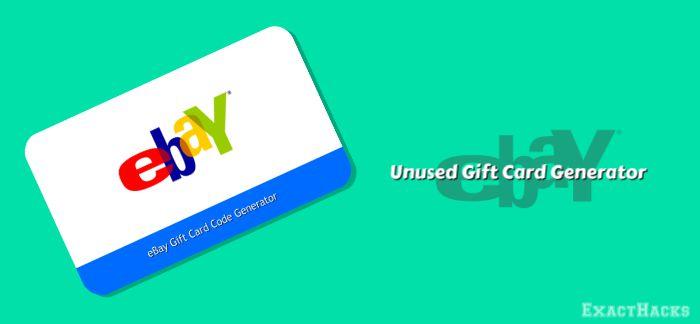 Unused eBay Gift Carde Generator 2020
